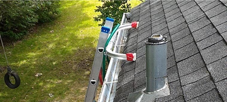 clean and clear gutter guard installation