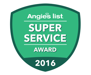 2016 Angie's List Super Service Award® (SSA) Winner
